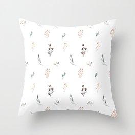 Little botanics pastel pattern Throw Pillow