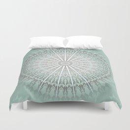 Mint Taupe Mandala Duvet Cover