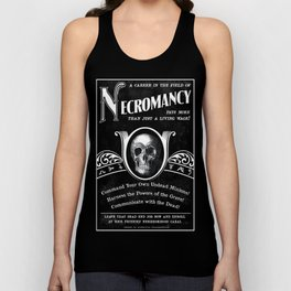 Faux School of Necromancy Recruitment Poster Unisex Tank Top