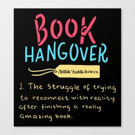 Book Hangover Canvas Print