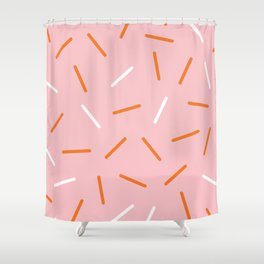 Pink Sprinkles Shower Curtain