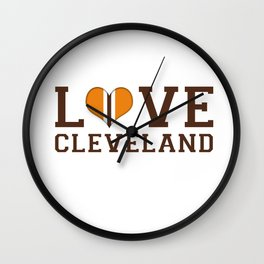 LUV Cleveland Wall Clock