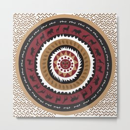 African Tribal Pattern No. 20 Metal Print