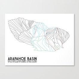 Arapahoe Basin, CO - Minimalist Trail Map Canvas Print