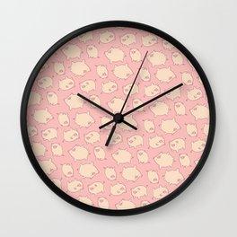 small pigs (pink) Wall Clock