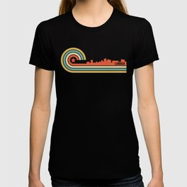 Retro Lubbock Texas Skyline T-shirt