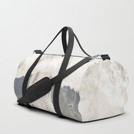Black and White Sea Gray Beach Duffle Bag