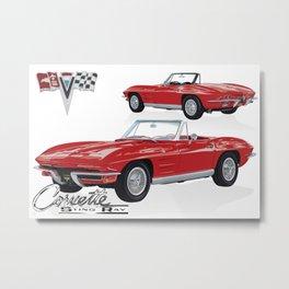 Classic American Sports Car 1964 Metal Print