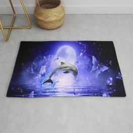 Dolphin & Butterflys Rug