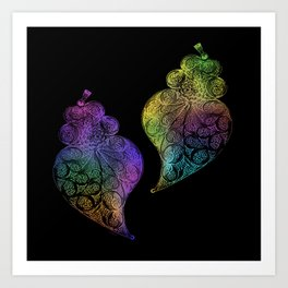 Two hearts-Heart of Viana Portugal Art Print