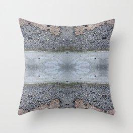 Brown Crumble Concrete Throw Pillow