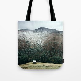 Cabin in the woods Tote Bag