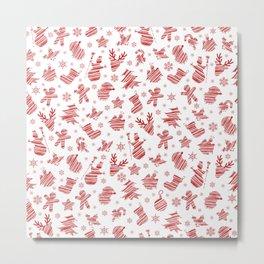 Seamless Christmas pattern Metal Print