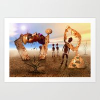 africa Art Prints featuring Africa by teddynash