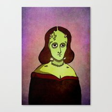 Prophets of Fiction - Mary Shelley /Frankenstein Canvas Print