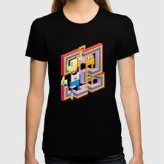 Mathematical! Black Womens Fitted Tee SMALL