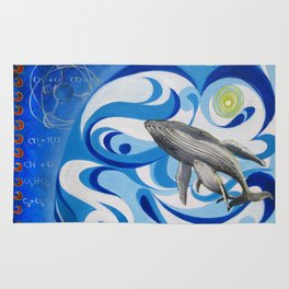 cosmic whale Rug