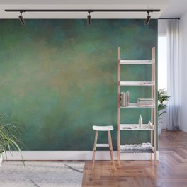Abstract Soft Watercolor Gradient Ombre Blend 4 Yellow Blue and Green Wall Mural