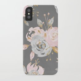 Night Rose Garden Gray iPhone Case