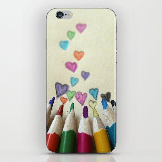 pencil crayon love iPhone & iPod Skin