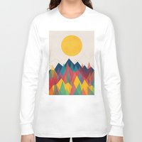 landscape Long Sleeve T-shirts featuring Uphill Battle by Picomodi