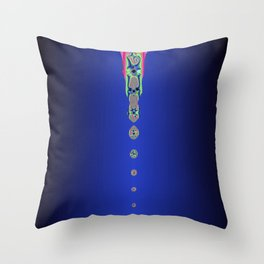 Drops of Colour (Dark Blue a12) Throw Pillow