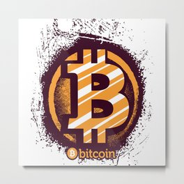 Crypto Currency Metal Print