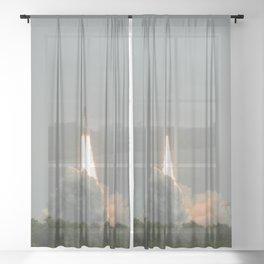 Space Shuttle Launch Sheer Curtain
