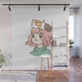 Guinea Pig Lady Wall Mural
