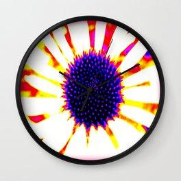 Electric Echinacea  Wall Clock