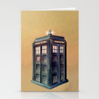 tardis Stationery Cards featuring TARDIS by Jordan