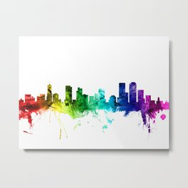 Denver Colorado Skyline Metal Print
