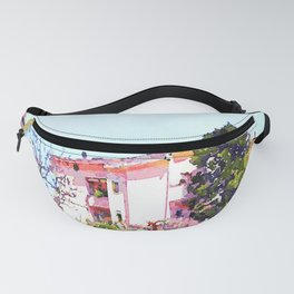 Buildings and trees Fanny Pack