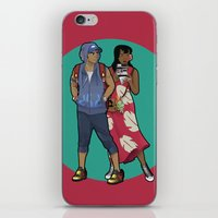 lilo and stitch iPhone & iPod Skins featuring Lilo & Stitch by Hyung86