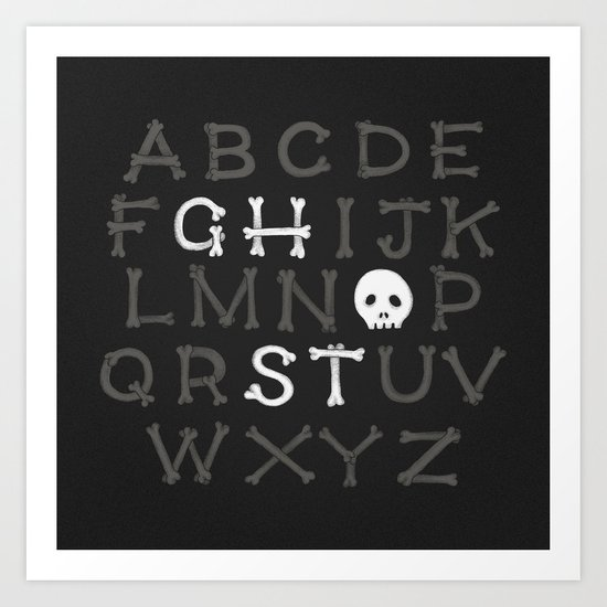Somethin' strange in your alphabet Art Print