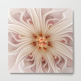 A floral Beauty, abstract Fractal Art Metal Print