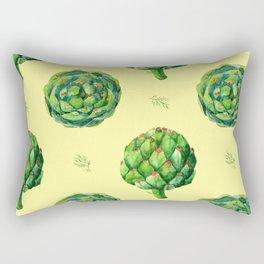 pattern artichoke pale yellow and dill Rectangular Pillow