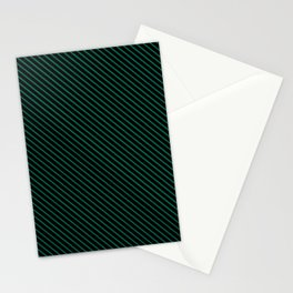 Lush Meadow and Black Stripe Stationery Cards