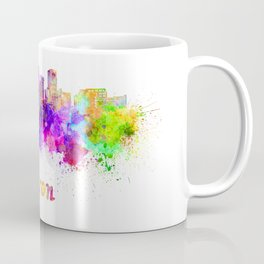 Akron OH skyline in watercolor Coffee Mug