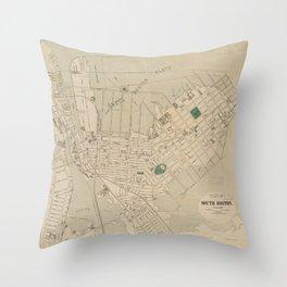 Vintage Map of South Boston (1880) Throw Pillow