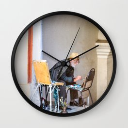 Old painter Wall Clock