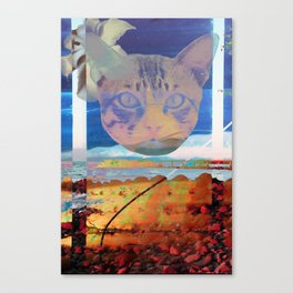 Psychedelic Cat Canvas Print