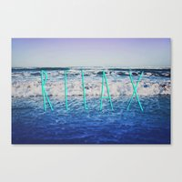 relax Canvas Prints featuring Relax by Leah Flores