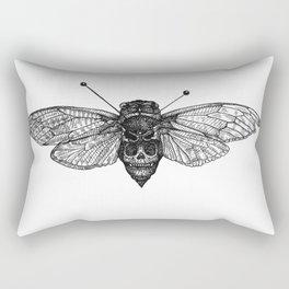 Skull Cicada Rectangular Pillow