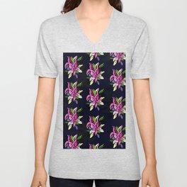 Tropical Floral Pattern Unisex V-Neck