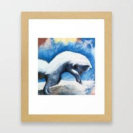 Animal - Antoine the Artic Fox - by LiliFlore Framed Art Print