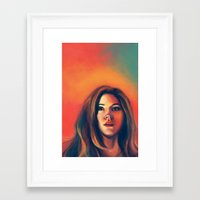 amy pond Framed Art Prints featuring Amy Pond by Alexia Bonfield