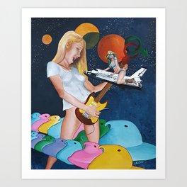 The illusory rockstar Art Print