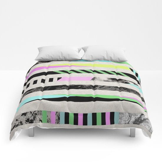 Crazy Lines - Pop Art, Geometric, Abstract Style Comforters