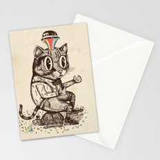 Strange Cat Stationery Cards